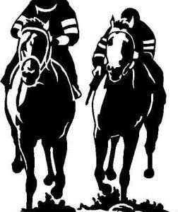 HEAD TO HEAD HORSE RACING DECAL