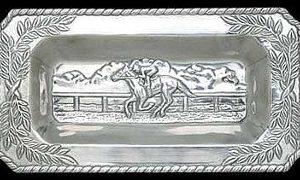 HORSE RACING BREAD TRAY