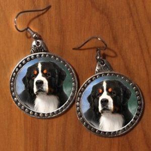 BERNESE MOUNTAIN DOG EARRINGS