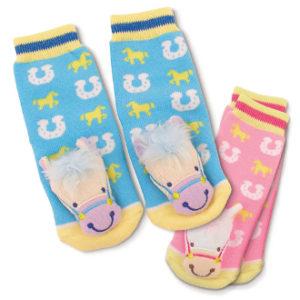HORSEY RATTLE BABY SOCKS