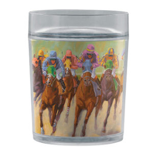 HOMESTRETCH HORSE RACING TUMBLER