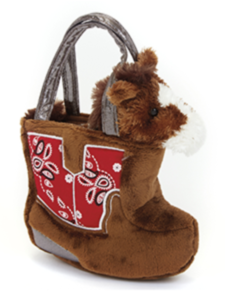 Cowboy Boot Plush Purse