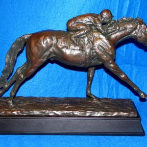 Stetch Run Horse Racing Trophy