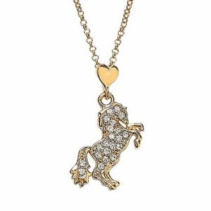 Rearing Horse Bling Necklace