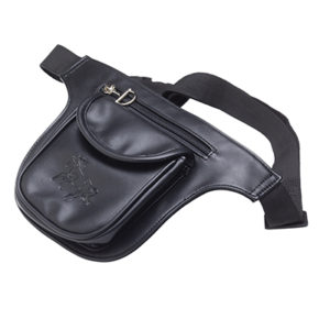 GALLOPING HORSE FANNY PACK BLACK