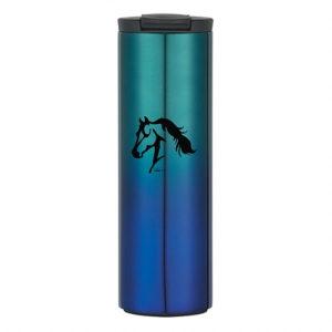 Horse Head Stainless Steel Travel Tumbler Blue