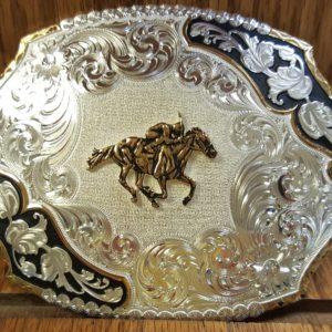 Horse Racing Belt Buckle