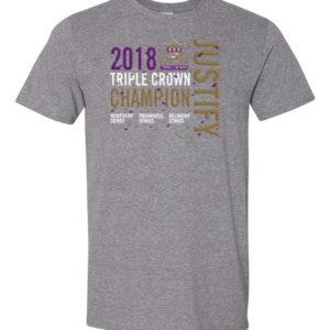 Justify Grey Triple Crown T-Shirt