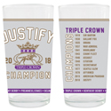 Justify Official Triple Crown Glass