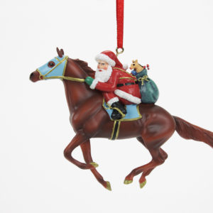 Breyer Santa Jockey and Racehorse Ornament