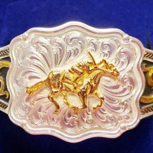 Racehorse and Jockey Cuff Bracelet